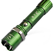 Rechargeable Aluminum Focusing LED Flashlight Glare Anti-Wolf Flashlight With Attack Head