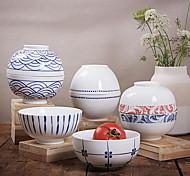 estilo japonês de alta temperatura porcelana branca de porcelana utensílios de mesa