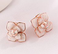 Flower Pearl Clip-On Earrings  Fashion Best Gift For Women