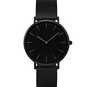 Муж. Для пары Модные часы Наручные часы Кварцевый / Нержавеющая сталь Группа Повседневная минималист Черный