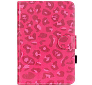 PU Leather Material Rose Leopard Embossed  Pattern Tablet Sleeve for iPad mini 1 / 2 / 3