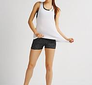 Спорт Жен. Дышащий Йога Верхняя часть Белый