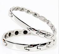 Silver ID Chain Bracelet for Men/Women