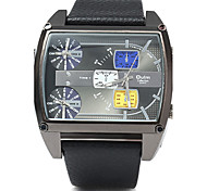 Oulm 3602 Men Square 3 Movement Table Strap Watch