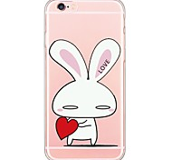 Cute Cartoon Bunny Pattern TPU Ultra-thin Translucent Soft Back Cover for Apple iPhone 6s Plus/6 Plus/ 6s/6/ SE/5s/5