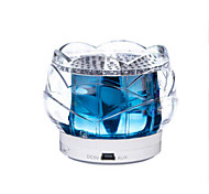 Crystal Lotus Loudspeaker Box Indoor Bed Bedside Lamp Night Lights Touch Control Bluetooth for Phone Christmas Light