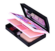 Fashion Make-up Lipstick Eyeshadow Blush Makeup Combination Powder Box