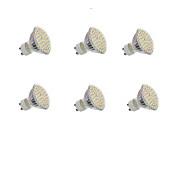 5W GU10 Focos LED Luces Empotradas 60 SMD 3528 300LM lm Blanco Cálido / Blanco Fresco Decorativa AC 100-240 / DC 12 V 6 piezas