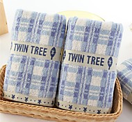 "1 PC Full Cotton Hand Towel Sport Towel 13"" by 43"" Super Soft Plaid Pattern"
