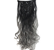 Mit Clip Synthetik Haarverlängerungen 130 24 Haar-Verlängerung