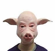 свинья маски косплей полное лицо Хэллоуин праздник вечеринка участник резиновый костюм смешной полная голова маска платье партии реквизита