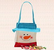 1pc Christmas Candy Bag Belt Snowmon Cover New Year Home Decoration Dinner Party Supplies