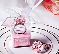 Wedding Accessories Diamond Ring Keychain Wedding Favor Small Gifts Wholesale - A Circular Pink