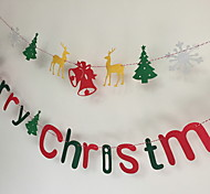 Christmas Decoration Marrychirstmas Letter Of Non-Woven Ribbon Garland Color Bar Pendant