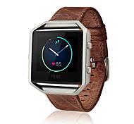 Кофе / Коричневый Кожа Классическая застежка / Кожаный ремешок Для Fitbit Смотреть 23мм