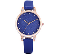 REBIRTH Women's Simple Fashion Watch Slim PU Leather Strap Quartz Wrist Watch