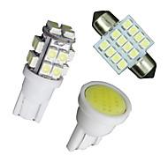 Xenon-weiße LED-Leuchten 11pc Interieur-Paket t10&31mm Karte Kuppel + Kfz-Kennzeichen