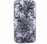 Lotus Pattern Black Printing Thick TPU Material Phone Case for LG K4 K5 K8 K10
