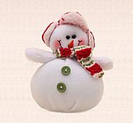 1pc año nuevo botón verde colgante del muñeco de nieve del árbol de navidad decoración de navidad única celebrar el don