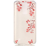 TPU + IMD Material Maple Leaf Pattern Painted Relief Phone Case for LG K10/K8/K7/K4