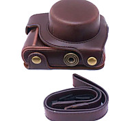 Dengpin PU Leather Camera Case Bag Cover for Panasonic GF8 12-32mm Lens (Assorted Colors)