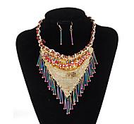 xu® Women's National Wind Fashion Alloy Necklace Earrings Suit