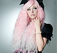 90CM Pink Water Wave Cosplay Fashion Club Night Women's Synthetic Wigs 400G Long Length Anime Costume Wig