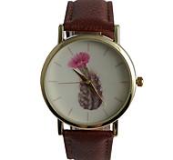 Genuine Quartz Watch Flowering Cactus Ladies Watch