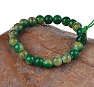 Strand Bracelets 1pc,Yellow / Red / Green Bracelet Vintage Circle 514 Agate Jewellery