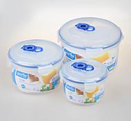 yooyee marca redonda plástico para microondas vacío ajustado contenedor de almacenamiento de alimentos