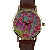 No Simple Surface Digital Photographic Paper Flower World Female Fashion Watch