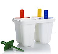 4 Creative Kitchen Gadget Plástico Utensílios de Gelado