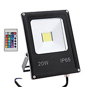 20W RGB with Remote Control Outdoor Lamp Security IP65 Waterproof Led Flood Light(85-265V)