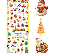 1 pcs Nail Art Water Transfer Christmas Sticker Colorful Happy Christmas Image Nail Decoration HOT193