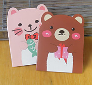 Bear Shaped Notepad With Ear Korea Stationery Cartoon Cute Little Book