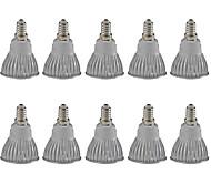 3W E14 Focos LED MR16 1 COB 380LM lm Blanco Cálido / Blanco Fresco Regulable / Decorativa AC 100-240 / AC 110-130 V 10 piezas