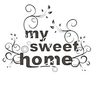 Fashion The My Sweet Home Pattern PVC Bathroom or Bedroom or Glass Wall Sticker Home Decor