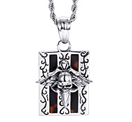 Kalen®2016  New Punk 316L Stainless Steel Personalised Skull Necklace Men's Accessories Gift