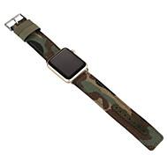 Bianco / Verde / Blu PU / Tessuto 牛仔布 帆布 运动型手表带 男女款 Cinturino sportivo Per Apple Orologio 38 millimetri / 42 millimetri
