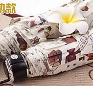 Белый Складные зонты Солнечный и дождливой Pезина Lady / Мужчины
