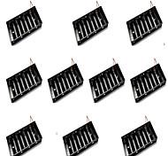 10pcs huit sections aa boîte de batterie peut être monté 8 5 batteries section seule rangée