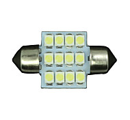 10 X White 31MM 12SMD Festoon Dome Map Interior LED Light Lamp DE3175 3022 3021