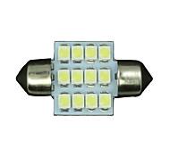 10 x 31mm weiß 12SMD Kuppel Karte Innengirlande LED-Licht-Lampe DE3175 3022 3021