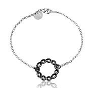 2016 Simple  925 Sterling Silver Black Luxury Specially Bracelets For Women