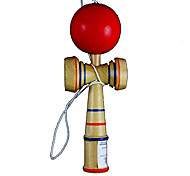 Classic Aftertaste Kendama Puzzle Game Toy - Wood + Red