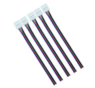 5Pcs 10mm 4pin RGB Led Strip Connector Wire Clip Cable For 5050 RGB LED Strip