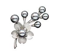 серебра антикварные женщин гальваническим цветочный дизайн моды броши в день / случайный подарок
