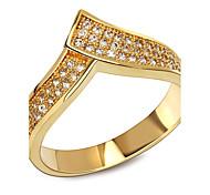 New Fantastic Look Platinum Plated Luxury Women Wedding Rings Cubic Zirconia Setting Environmental Friendly Jewelry