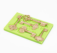 Торт украшения форменное барокко старинные ключи силиконовые сахаристые формы шоколадные полимерные помадные инструменты цвет случайные