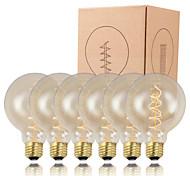 GMY 6pcs lampadina edison G95 a spirale del filamento della lampadina epoca 40w E26 / E27 decorare lampadina